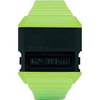 【DIESEL】科技玩家電子腕錶-綠(DZ7197)