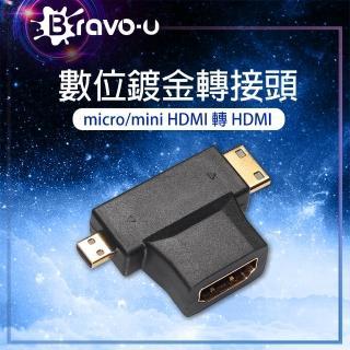 【Bravo-u】micro / mini(HDMI 轉 HDMI 轉接頭)