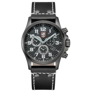 【瑞士LUMINOX雷明時】ATACAMA 戰場系列碳纖維紋計時腕錶-槍黑