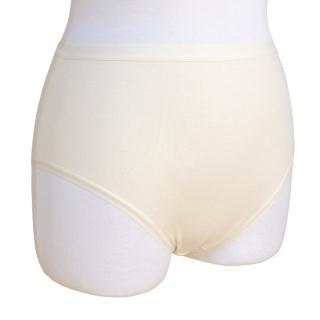 【和諧生活有機棉】仕女高腰一般內褲(2入 原棉米白色)
