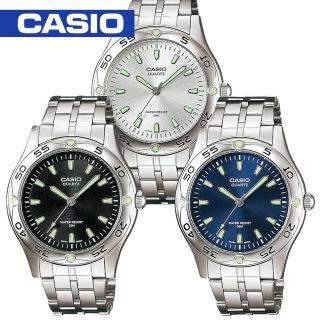 【CASIO 卡西歐】時尚刻度夜光不鏽鋼型男錶(MTP-1243D)