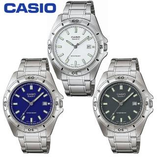 【CASIO 卡西歐】時尚夜光刻度不鏽鋼型男錶(MTP-1244D)
