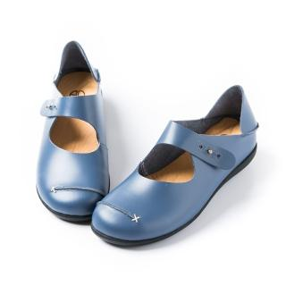 【ALAIN DELON】兩穿式真皮踩腳休閒鞋W7420(2色 駝色 藍色)
