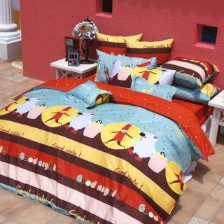 【義大利Fancy Belle】《甜美夢境》加大四件式貢緞兩用被床包組