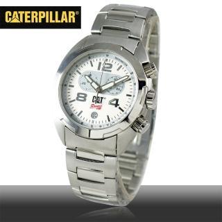 【CAT 美國品牌】美式休閒風格男錶-白面(R2-143-11-032)