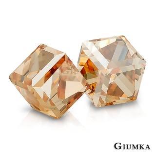 【GIUMKA】魔法水晶耳針式耳環 甜美淑女款  MF00604-4(璀璨金)