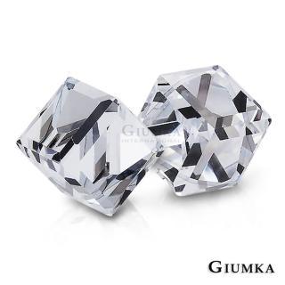 【GIUMKA】魔法水晶耳針式耳環 甜美淑女款  MF00604-5(晶瑩白)