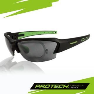【PROTECH】ADP011專業級UV400運動太陽眼鏡(黑&綠色系)
