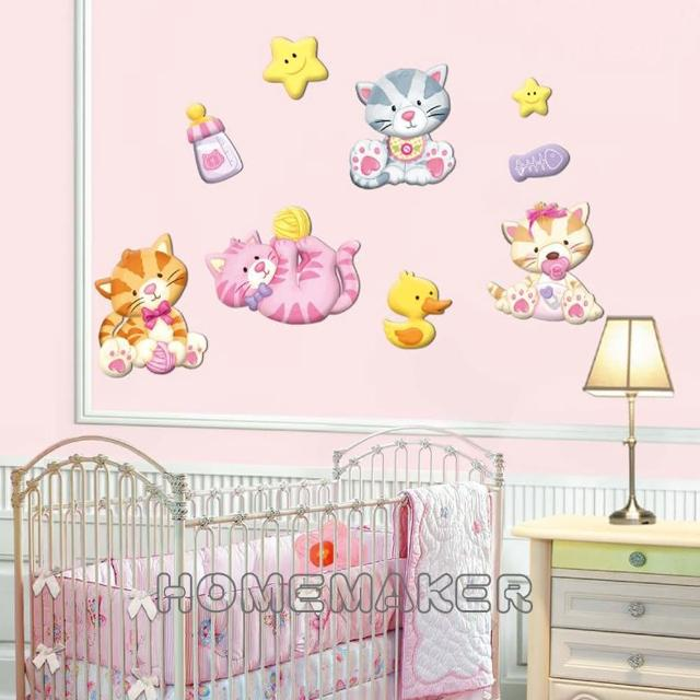 【LK】貓咪高周波泡棉壁飾貼(LK-PDA3506)