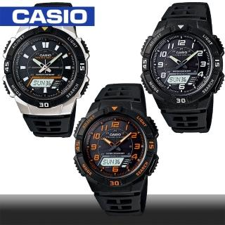 【CASIO 卡西歐】日系-太陽能電力/數位指針雙顯錶(AQ-S800W)