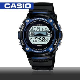 【CASIO 卡西歐】太陽能-潮汐月相多功能運動錶(W-S210H)