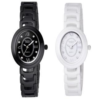 【Vaness】新古典優雅陶瓷時尚腕錶(兩款顏色)