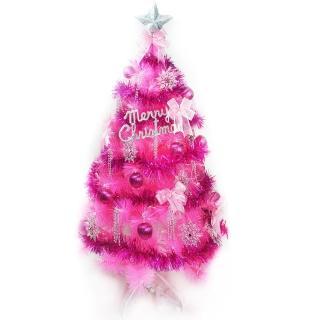 【聖誕裝飾品特賣】台灣製6尺(180cm特級粉紅色松針葉聖誕樹-銀紫色系配件(不含燈)