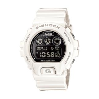 【CASIO 卡西歐 G-SHOCK 系列】耀眼高彩度金屬色運動男錶(DW-6900NB 白款)