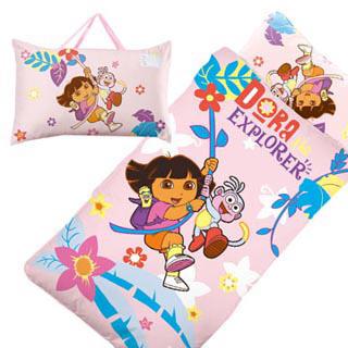 【BabyTiger虎兒寶】卡通造型幼教兒童睡袋-朵拉Dora(睡袋 朵拉 dora)