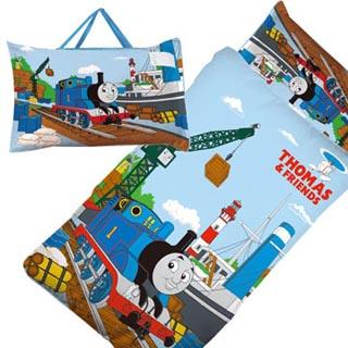 【BabyTiger虎兒寶】卡通造型冬夏兩用幼教兒童睡袋(湯瑪士Thomas)
