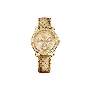 【Juicy Couture】珍愛奢華晶鑽日曆腕錶-金/38mm(J1901062)