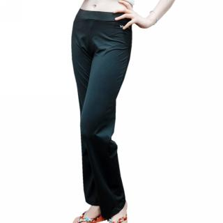 【MACPOLY 五折下殺】女舒適透氣涼感高彈力寬版運動休閒長褲(黑色  S-2XL)