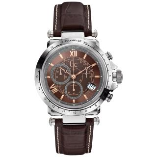 【Gc】Gc 別緻典藏計時腕錶-咖啡/皮帶(X44006G4)