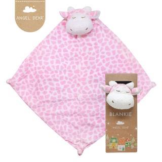 【美國 Angel Dear】動物嬰兒安撫巾(粉紅長頸鹿)
