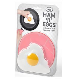 【Fred & Friends】Ham n Eggs 火腿蛋造型隔熱墊