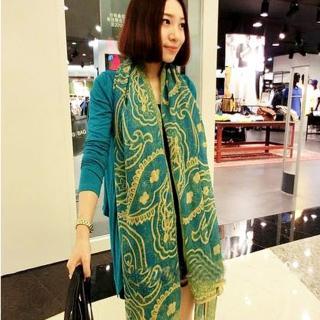 【Lady c.c.】高雅氣質皇家巴黎紗圍巾(淺藍)