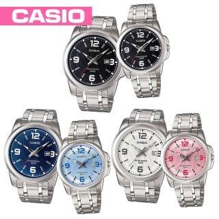 【CASIO 卡西歐】送禮首選-簡約氣質情侶對錶-附2錶盒(MTP-1314D+LTP-1314D)