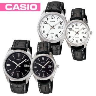 【CASIO 卡西歐】送禮首選-貴氣時尚皮革情侶對錶款(MTP-1302L+LTP-1302L)