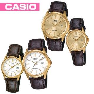 【CASIO 卡西歐】送禮首選-貴氣時尚皮革情侶對錶款(MTP-1183Q+LTP-1183Q)