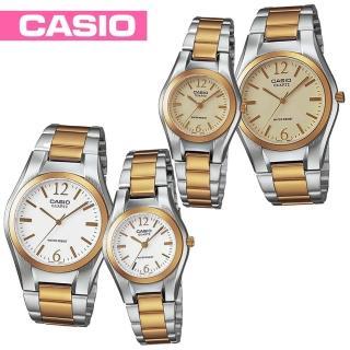 【CASIO 卡西歐】甜蜜浪漫情侶對錶(LTP-1253SG+MTP-1253SG)