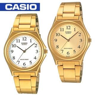 【CASIO 卡西歐】紳士燦金數字型指針男錶(MTP-1130N)