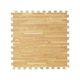 【新生活家】耐磨拼花木紋地墊(淺色62x62x1.4cm12入)