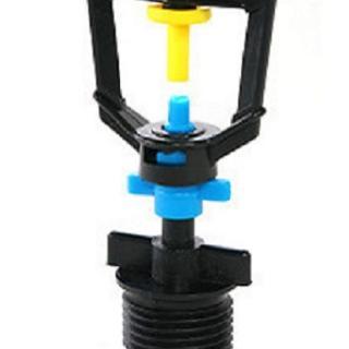 【灑水達人】2分放射型不旋轉噴頭加四分外牙5個一包(黃藍)
