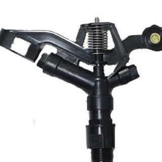 【灑水達人】1吋黑色塑鋼外牙遠近兩段噴灑距離360度旋轉噴灑頭無腳架(塑鋼)