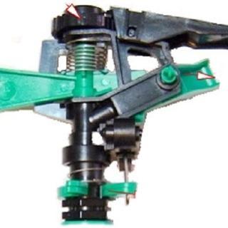 【灑水達人】4分塑膠鳥型噴頭灑水器6入(綠)