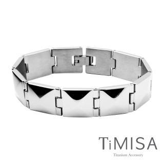 【TiMISA】龐克鉚釘 純鈦鍺手鍊