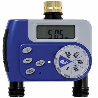 【灑水達人】美國ORBIT雙區自動定時灑水器(限定特別款藍色)