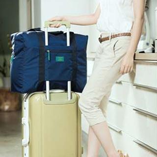 【M Square】防水折疊式旅行購物袋(寶藍)