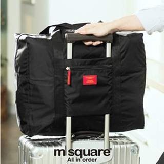 【M Square】防水折疊式旅行購物袋(酷黑)