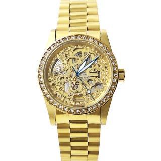 【Valentino范倫鐵諾】工藝雙面鏤雕自動上鍊機械腕錶 父親節禮物(玖飾時尚NE971)