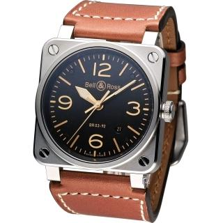 【Bell & Ross】機艙儀表板概念機械錶(BR0392-ST-G-HE SWA)