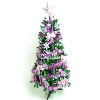 【聖誕裝飾品特賣】超級幸福15尺/15呎(450cm一般型裝飾綠聖誕樹-銀紫色系配件組 (不含燈)
