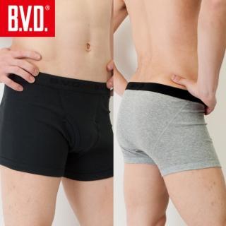 【BVD】100% 純棉男彩色平口褲(灰/藏青/黑 色 5件組)