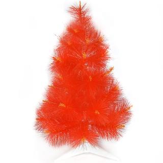 【聖誕裝飾品特賣】台灣製2尺/2呎(60cm特級紅色松針葉聖誕樹裸樹 不含飾品 不含燈)