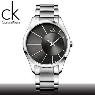 【瑞士 CK手錶 Calvin Klein】光芒系列石英男錶_黑面(K0S21108)