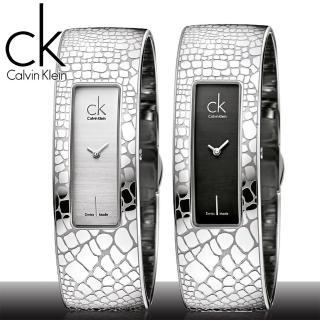 【瑞士 CK手錶 Calvin Klein】時尚派對_野性蛇紋手環女錶(K2024107_K2024120)