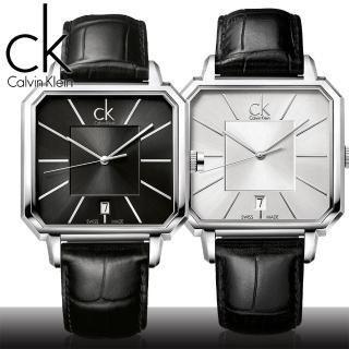 【瑞士 CK手錶 Calvin Klein】型男必備款_方形概念男錶(K1U21107_K1U21120)