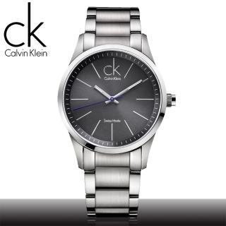 【瑞士 CK手錶 Calvin Klein】絕對經典款_鐵灰紳士男錶(K2241107)