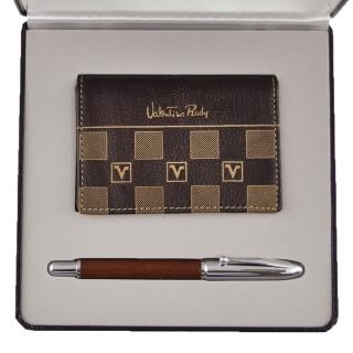 【Valentino Rudy 范倫鐵諾】鋼珠筆名片夾禮盒(SC211)