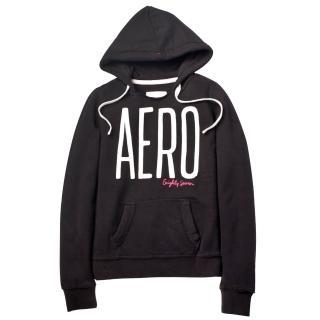 【現貨Aeropostale】AERO 經典款 連帽口袋上衣(黑色)